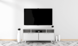 white wooden TV stands